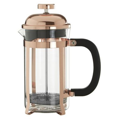 Premier Housewares Allera Rose Gold Finish Cafetiere, 600ml