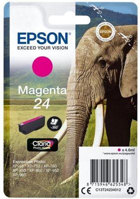 Epson Singlepack Magenta 24 Claria Photo HD Ink C13T24234012