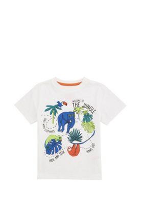 F&F Jungle Motif T-Shirt White 12-18 months