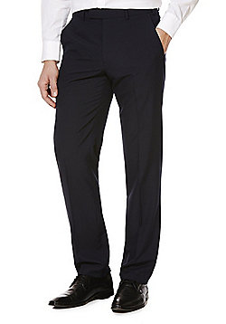 F&F Regular Fit Suit Trousers - Navy