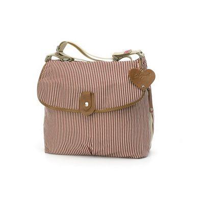 Babymel Satchel Changing Bag Red Stripe