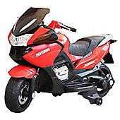 Homcom Children Ride On Toy Bike Kids Motorcycle 12V Battery (Red)