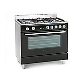 Montpellier MR90DFMK 90cm Dual Fuel Range Cooker in Black