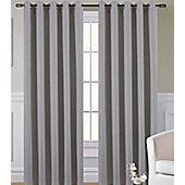 Living or Dining Room Thermal Blackout Eyelet Curtains 66 x 54 in Grey Pewter