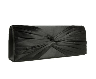 Barratts Satin Clutch Bags With Knot Detail