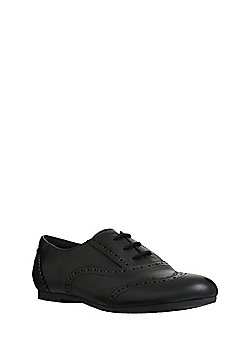 F&F All Day Comfort Leather School Brogues - Black