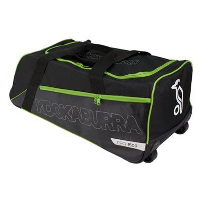 Kookaburra 2018 Pro 1500 Wheelie Cricket Holdall Duffle Duffel Bag Black/Green