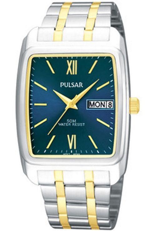 Pulsar Gents Stainless Steel Bracelet Watch PXN215X1