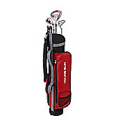 Young Gun Zaap Eagle Junior Kid Right Hand Golf Set + Bags Age 9-11 Red