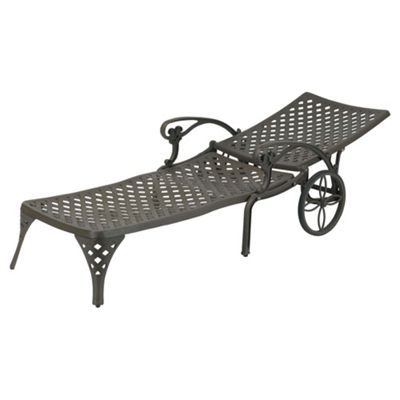 Eclipse Cast Aluminium Sun Lounger