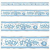Umbrellaphants Blue Foil baby shower banner- 12ft
