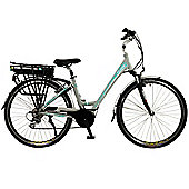 Flare Womens Low Step Mid Drive Electric Hybrid City Bike, Grey