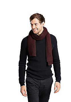 Zakti Mens Rug Up Acrylic Knitted Scarf with Lightweight Design Providing Warmth - Red