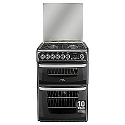 Hotpoint Dual fuel Cooker with Electric Grill and Gas Hob, CH60DHKF S - Black
