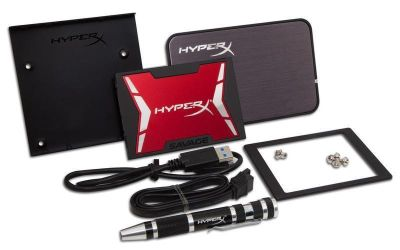 Hyper X Savage 480 GB Internal Solid-State Drive Bundle with Caddy / Clone Software
