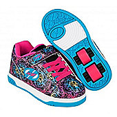 Heelys Dual Up Black/Cyan/Neon Multi Kids Heely X2 Shoe - Multi