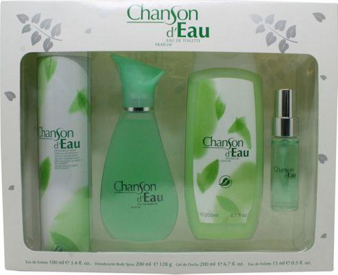 Coty Chanson d'Eau Gift Set 100ml EDT + 15ml EDT + 200ml Shower Gel For Women