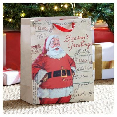 Tesco Traditional Santa Gift Bag, Large