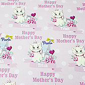 Disney Aristocats Personalised Mother's Day Gift Wrap & Tag Set