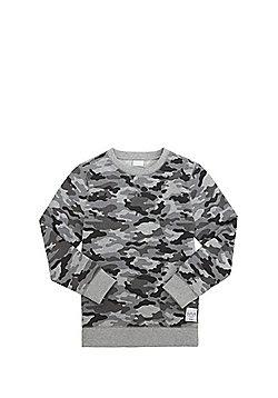 F&F Camo Print Sweatshirt - Grey