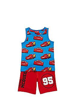 Disney Pixar Cars Vest and Shorts Set - Blue & Red