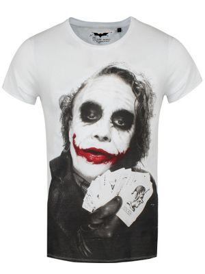 DC Comics The Joker Poker Men's White T-shirt
