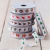 Set of Six Christmas Ribbons