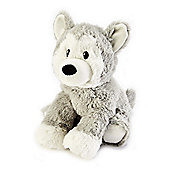 Intelex Warmies Heatable Husky Microwavable Cozy Plush Soft Toy