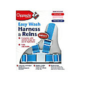Clippasafe Easy Wash Harness and Rein Sky Blue