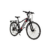 Oxygen S-Cross Cross Bar Hybrid Electric Bike 13Ah Black