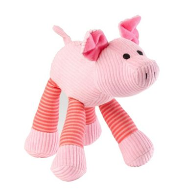 Pig Cord Squeaker Dog Toy