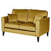 Fox & Ivy Dexter Velvet Medium 2.5 Seater Sofa, Mustard