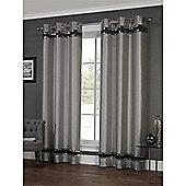 Hamilton McBride Savoy Eyelet Curtains - Silver