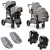 Baby Elegance Cupla Duo Twin Travel System (Grey)