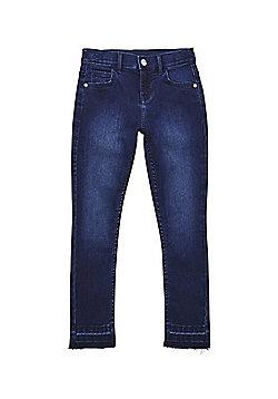 F&F Let Down Hem Stretch Skinny Jeans - Indigo