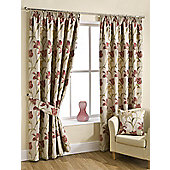 Fragrance Ready Made Lined Curtains Red 90X72