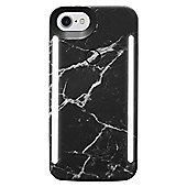 LuMee Duo LED Phone Selfie Case For iPhone 6/6S/7/8│Soft-Slim-Sleek│Black Marble