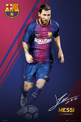 Barcelona FC Messi 17-18 Poster 61 x 91.5cm