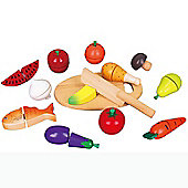 Viga Wooden Cutting Food Set