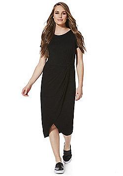 F&F Knot Detail Jersey Midi Dress - Black