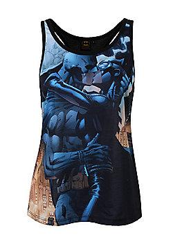 DC Comics Batman & Catwoman Women's Vest, Black. - Black
