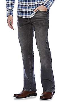 F&F Washed Bootcut Jeans - Grey