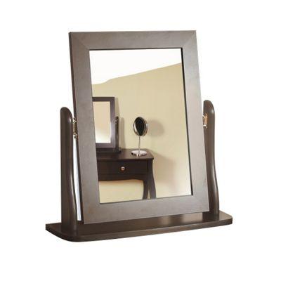 Baroque Dressing Table Mirror, Black
