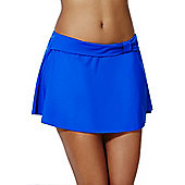 F&F Shaping Swimwear Skirted Bikini Briefs - Cobalt