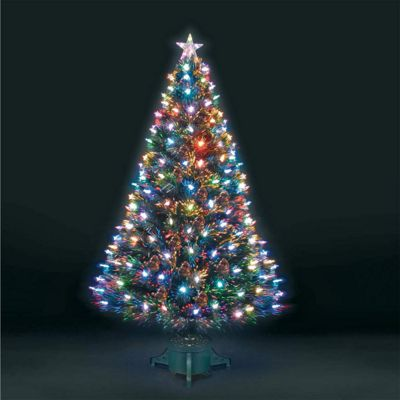 4ft Superstar Green Fibre Optic & LED Christmas Tree