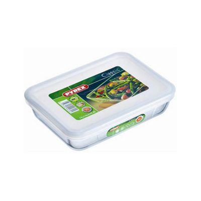 Pyrex Cook and Store 27cm x 23cm Rectangular Dish with Lid