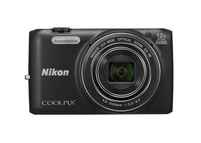 Nikon Coolpix S6800 Camera Black 16.0MP 12xZoom 3.0LCD FHD 25mm Wide Lens