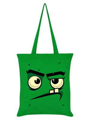 Trick Or Treat Monstee - Grouchee Tote Bag 38 x 42cm Green