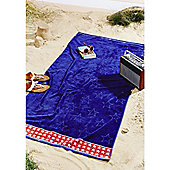 Catherine Lansfield Stars and Stripes Beach Towel - Blue