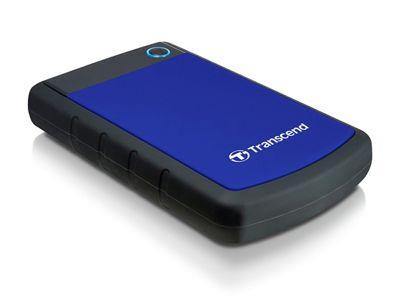 Transcend 2TB StoreJet 25H3 2000GB Black Blue external hard drive